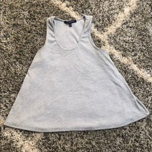 Gray and white striped tank, Like new